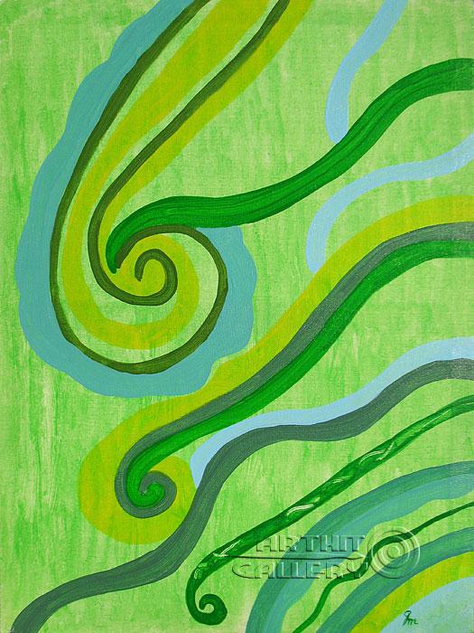 ''Поток''.  Кортюкова Роза. Продажа картин, предметов декоративно-прикладного искусства