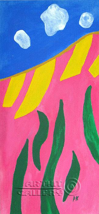 ''Летний пейзаж''.  Кортюкова Роза. Продажа картин, предметов декоративно-прикладного искусства