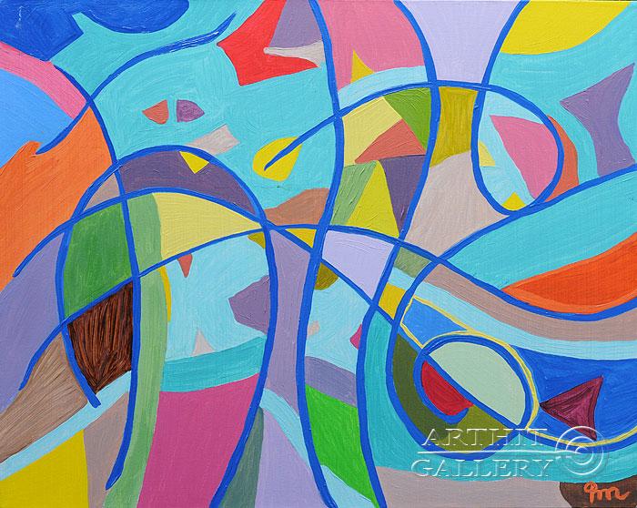 ''Каток''.  Кортюкова Роза. Продажа картин, предметов декоративно-прикладного искусства