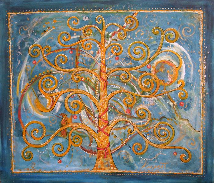 ''Сказочное дерево''.  Кислая Татьяна. Продажа картин, предметов декоративно-прикладного искусства
