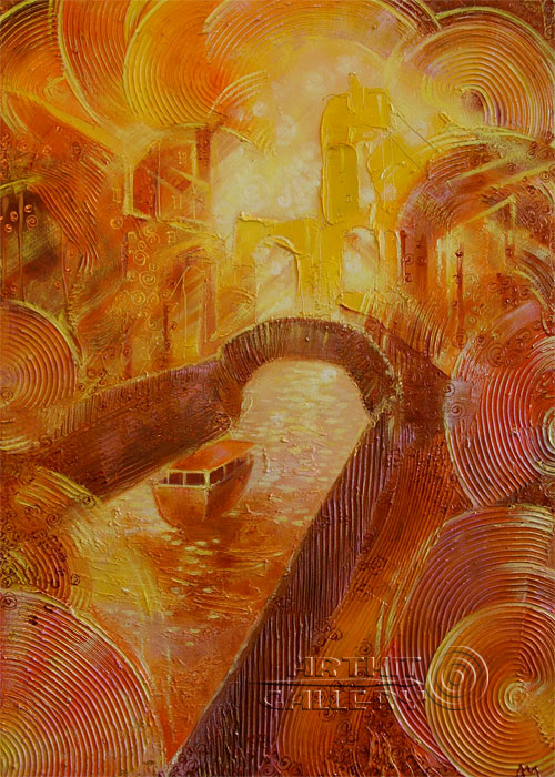 ''Город солнца''.  Маркова Даша. Продажа картин, предметов декоративно-прикладного искусства