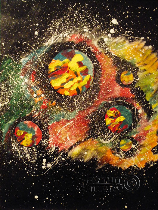 ''Три планеты''.  Шабанов Иван. Продажа картин, предметов декоративно-прикладного искусства