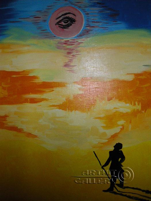 ''Человек и солнце''.  Шабанов Иван. Продажа картин, предметов декоративно-прикладного искусства
