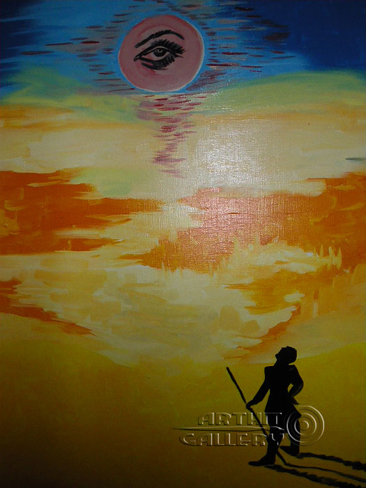'Man and the sun'. Shabanov Ivan