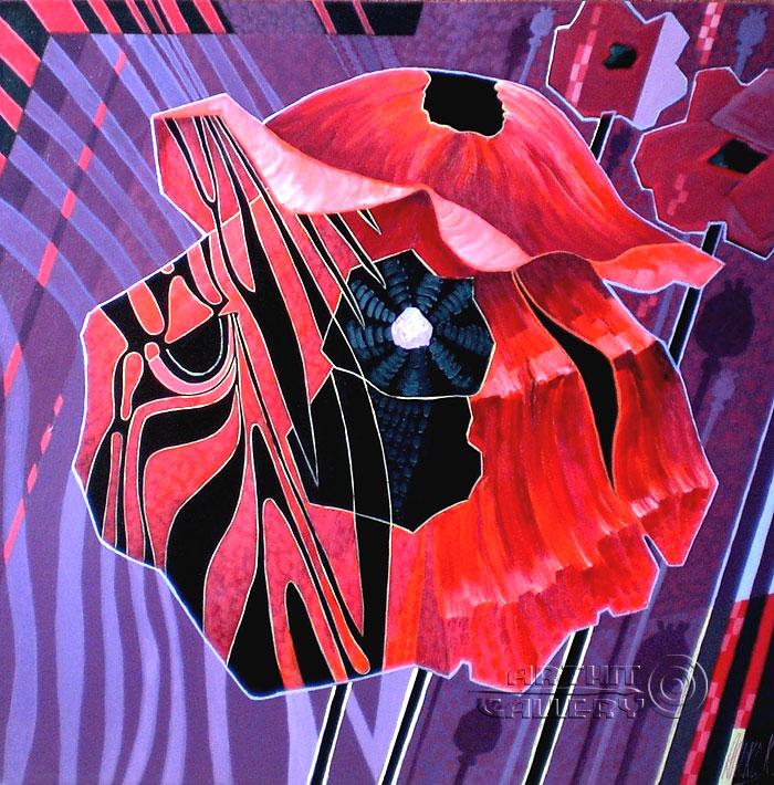 ''Африканские маки''.  Никитина Надежда. Продажа картин, предметов декоративно-прикладного искусства