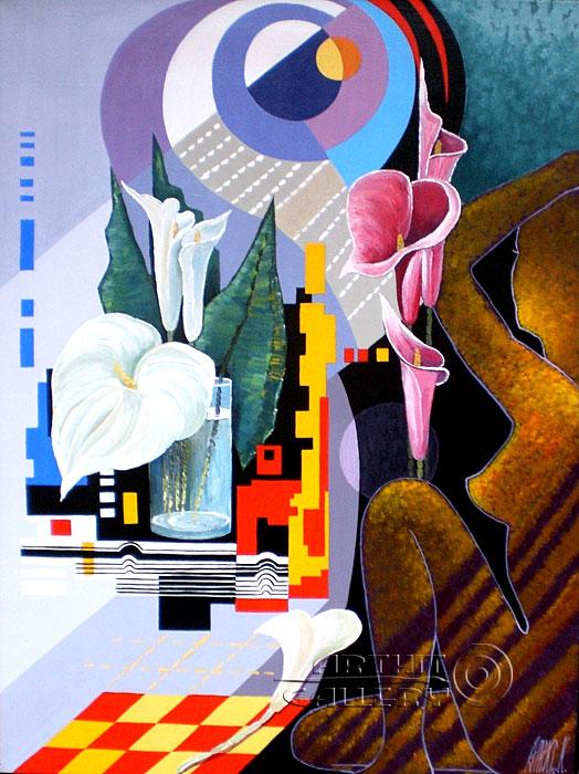 ''Солнечное затмение-3''.  Никитина Надежда. Продажа картин, предметов декоративно-прикладного искусства