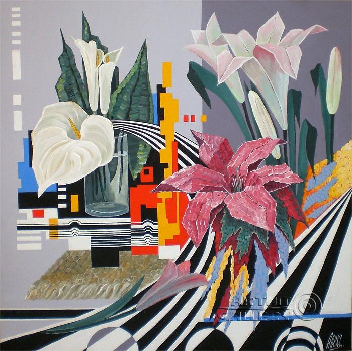 ''Цветное в черно-белом''.  Никитина Надежда. Продажа картин, предметов декоративно-прикладного искусства