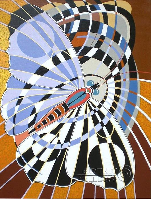 ''Бабочка''.  Никитина Надежда. Продажа картин, предметов декоративно-прикладного искусства
