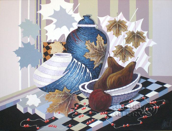 ''Рябиновые бусы''.  Никитина Надежда. Продажа картин, предметов декоративно-прикладного искусства