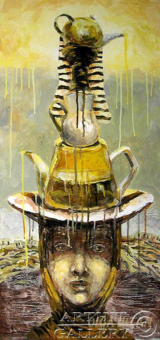 ''Чайный сервиз''.  Лузан Ольга. Продажа картин, предметов декоративно-прикладного искусства