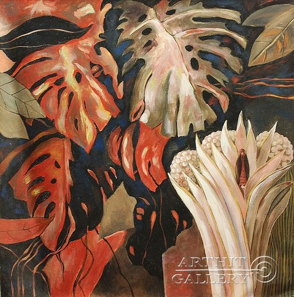 ''Цветы папортника''.  Лузан Ольга. Продажа картин, предметов декоративно-прикладного искусства
