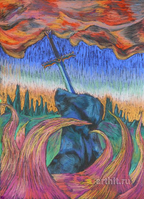 ''Власть меча''.  Устинченко Евгений. Продажа картин, предметов декоративно-прикладного искусства