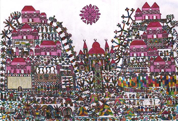 ''Турецкая деревня''.  Фаттал Адиб. Продажа картин, предметов декоративно-прикладного искусства