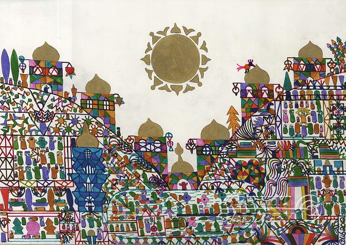 ''Золотое солнце''.  Фаттал Адиб. Продажа картин, предметов декоративно-прикладного искусства