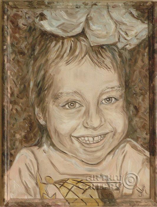 ''Девочка с бантиком''.  Мец Екатерина. Продажа картин, предметов декоративно-прикладного искусства