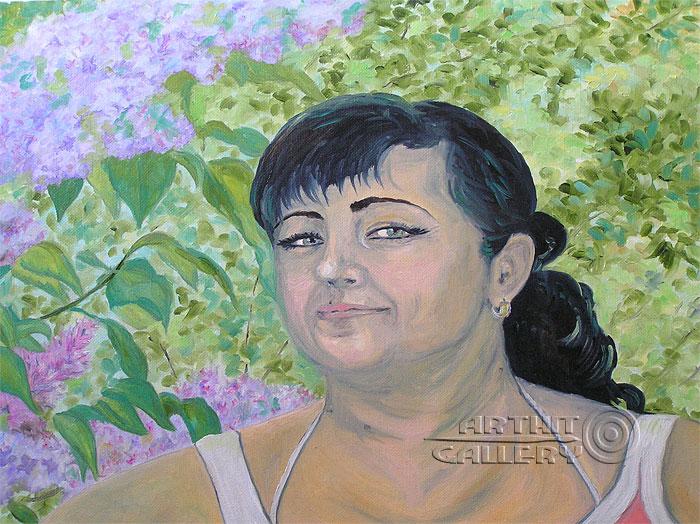''В сирени''.  Мец Екатерина. Продажа картин, предметов декоративно-прикладного искусства