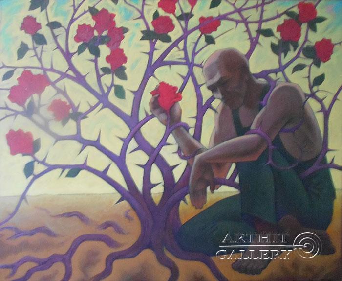 ''Садовник''.  Маершин Сергей. Продажа картин, предметов декоративно-прикладного искусства