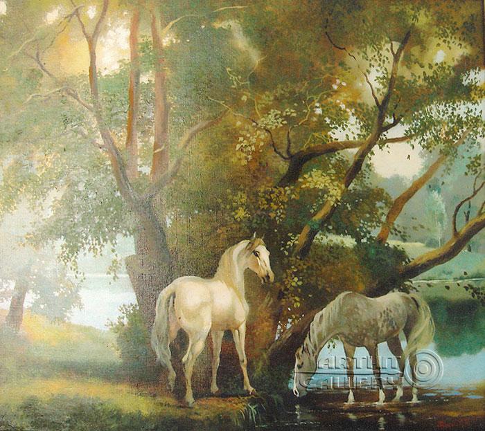 ''Под тенистыми ивами''.  Галимов Наиль. Продажа картин, предметов декоративно-прикладного искусства