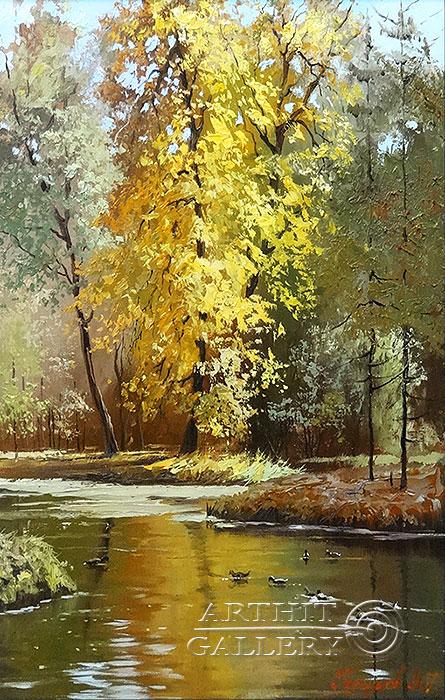 ''Осенний мотив''.  Галимов Наиль. Продажа картин, предметов декоративно-прикладного искусства