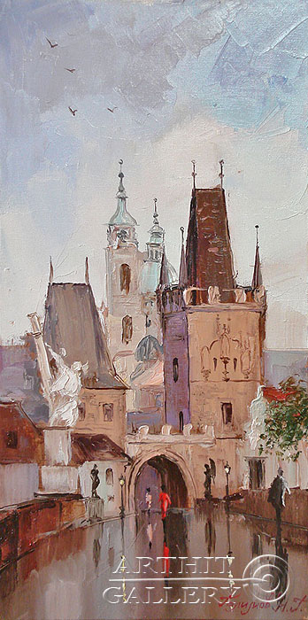 ''Прага''.  Галимов Наиль. Продажа картин, предметов декоративно-прикладного искусства