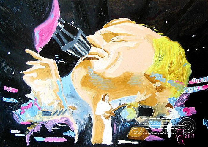 ''Портрет Фила Коллинза''.  Гукалов Александр. Продажа картин, предметов декоративно-прикладного искусства