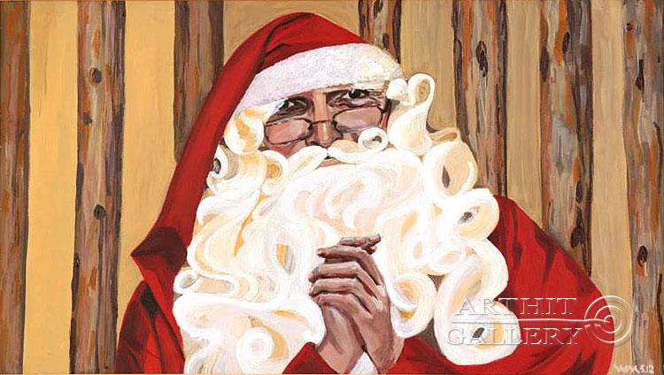 ''Дед Мороз''.  Машурова Вера. Продажа картин, предметов декоративно-прикладного искусства