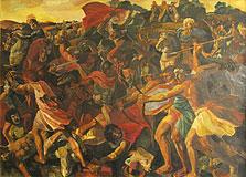 Битва израильтян с амалекитянами (Пуссен Никола, копия)