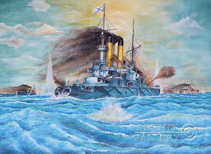 'Naval battle. `Battle of Tsushima` Part 2'. Katrushenko Vasiliy
