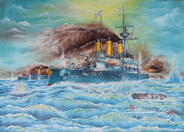 'Naval battle. `Battle of Tsushima` Part 3'. Katrushenko Vasiliy