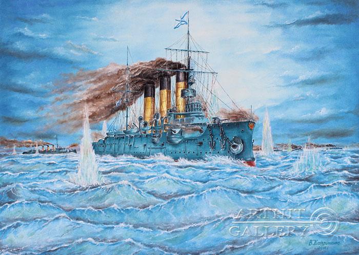 'Naval battle. `Battle of Tsushima` Part 5'. Katrushenko Vasiliy