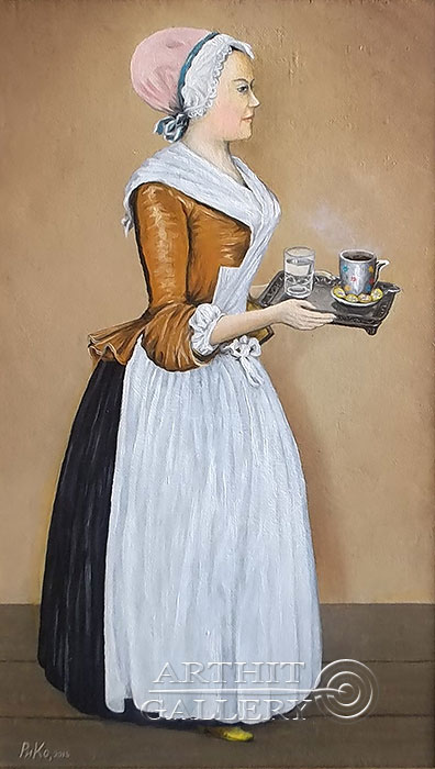 'My Chocolate Girl Larisa Guzeeva | (Inspired by Jean-Etienne Liotard)'  by Rimsky-Korsakov Yuriy