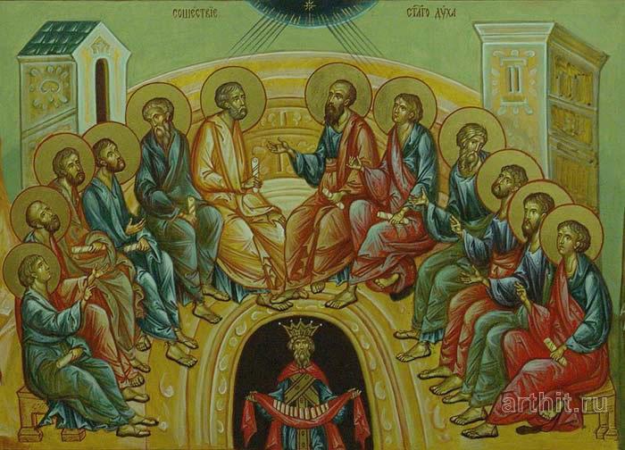 'The Descent of Holy Spirit on Apostles'. Kolbneva Irina