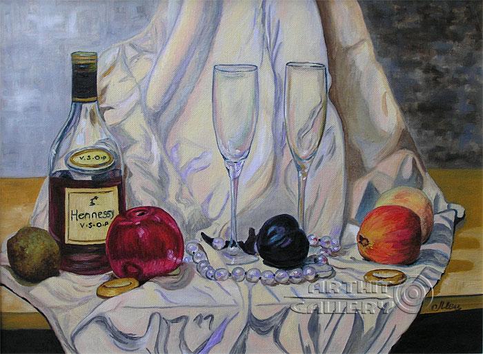 ''Натюрморт с бусами''.  Мец Екатерина. Продажа картин, предметов декоративно-прикладного искусства