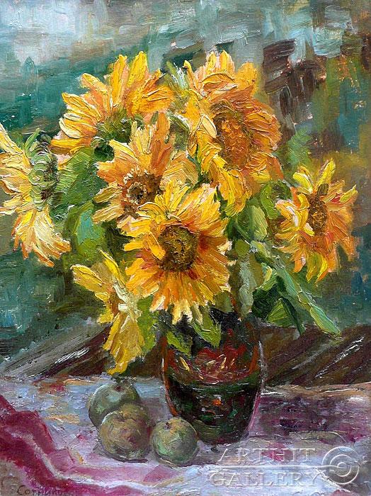 'Sunflowers'. Sotnikov Yuriy Vasilyevich