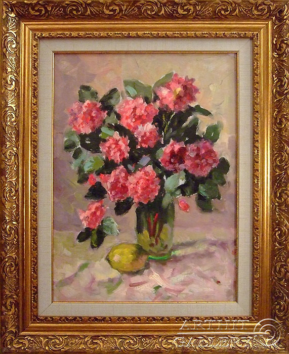 'Roses with lemon'. Sotnikov Yuriy Vasilyevich