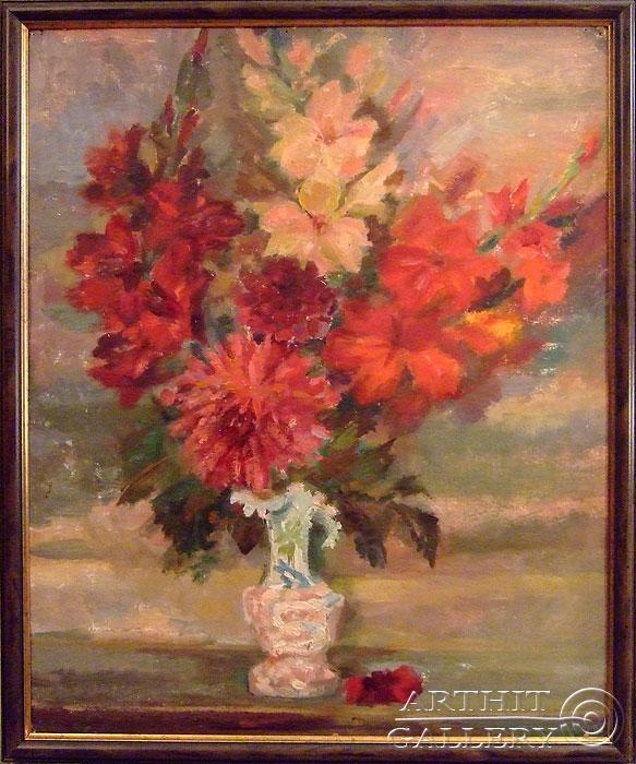 'Красные in antique vase'. Titkova Vrubelina