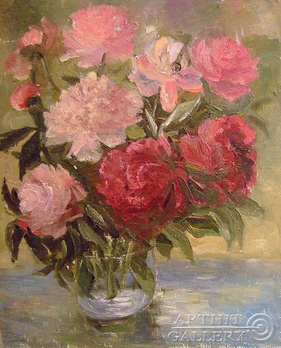 'Peonies'. Sotnikov Yuriy Vasilyevich