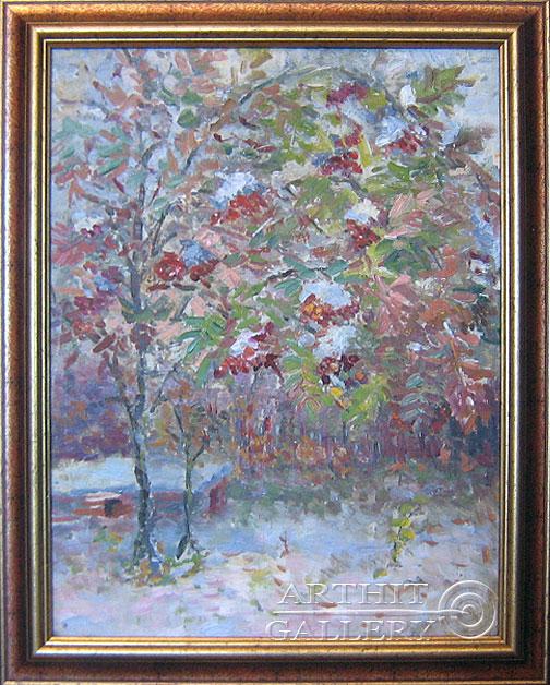 'Rowan tree. First snow'. Sotnikov Yuriy Vasilyevich
