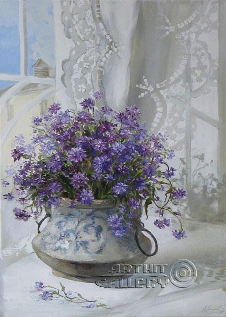 Original Paintings For Sale Still Life Summer Morning