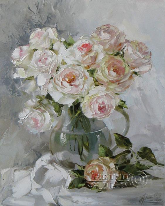 ''Розы''.  Кравченко Оксана. Продажа картин, предметов декоративно-прикладного искусства