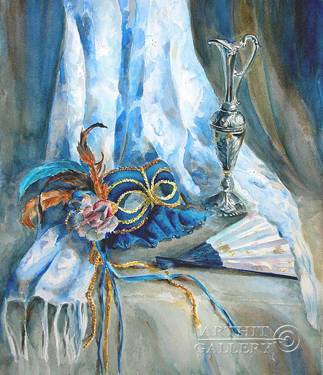 ''После карнавала''.  Газарова Лариса. Продажа картин, предметов декоративно-прикладного искусства