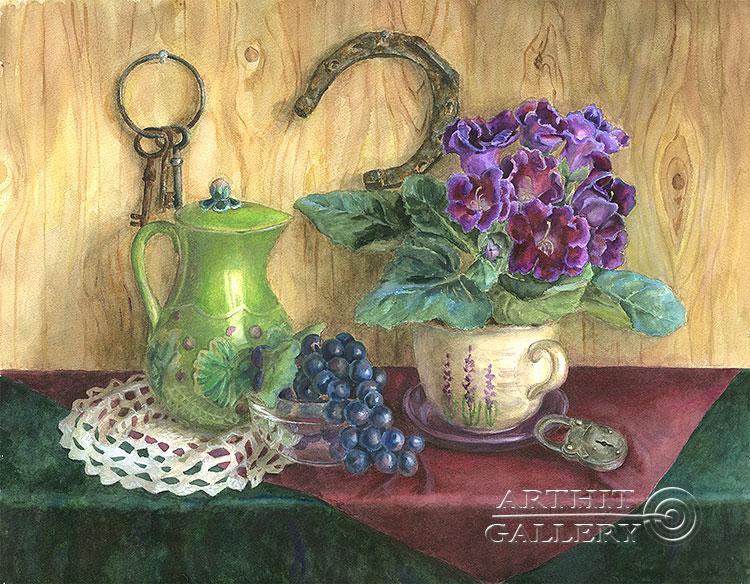 ''Подкова на счастье''.  Газарова Лариса. Продажа картин, предметов декоративно-прикладного искусства
