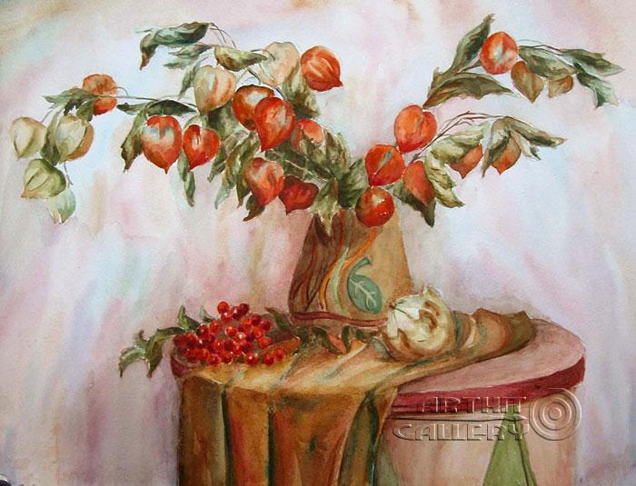 ''Золотой физалис''.  Газарова Лариса. Продажа картин, предметов декоративно-прикладного искусства