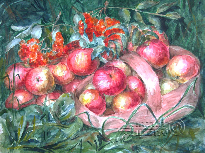 'Apples in the grass'. Gazarova Larisa