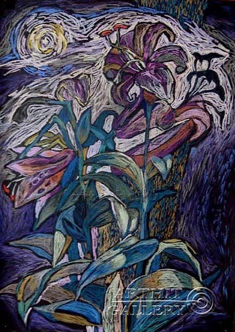 ''Лилии''.  Лузан Ольга. Продажа картин, предметов декоративно-прикладного искусства
