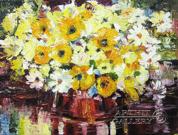 'Bouquet of flowers'. Luzan Olga