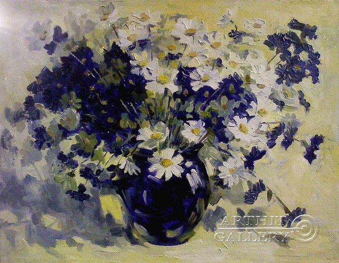 'Bouquet of daisies'. Luzan Olga