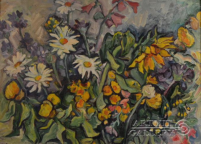 ''Полевые цветы''.  Оганесян Асмик. Продажа картин, предметов декоративно-прикладного искусства