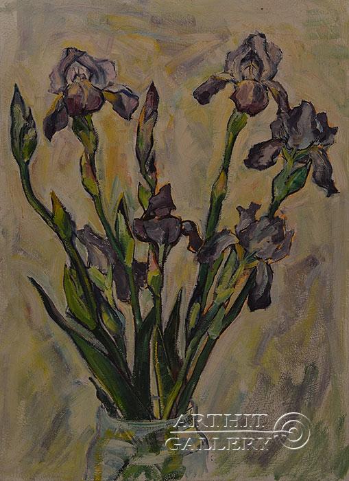 ''Ирисы''.  Оганесян Асмик. Продажа картин, предметов декоративно-прикладного искусства