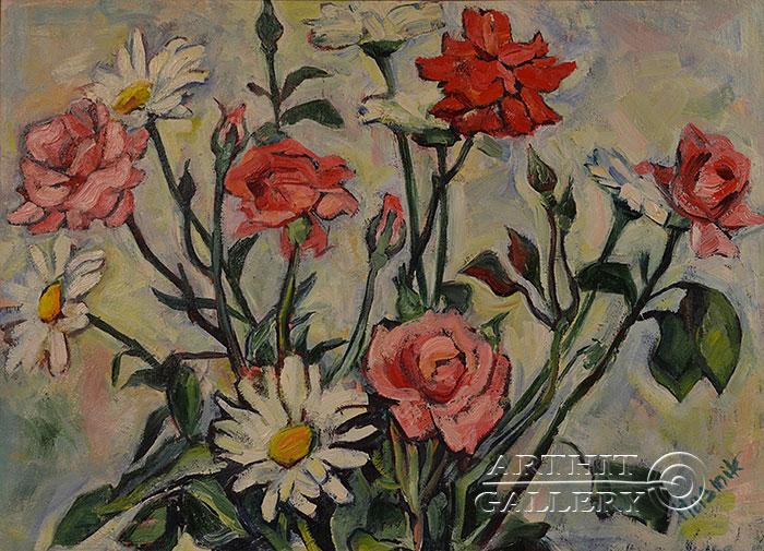 ''Розы''.  Оганесян Асмик. Продажа картин, предметов декоративно-прикладного искусства
